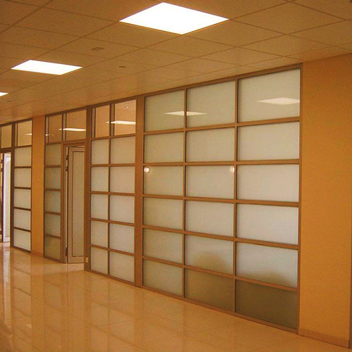 Wooden office partition in Dublin Ireland